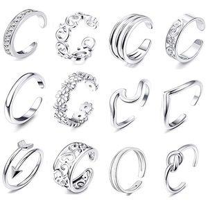 Jewelry - 12Pcs Set Open Toe Rings Adjustable